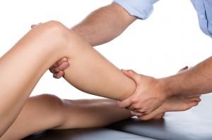 Massage der Wadenmuskulatur